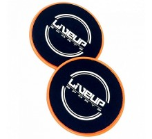Диски LiveUp Sliding Disc для скольжения 17 cм Black-Orange (LS3360)
